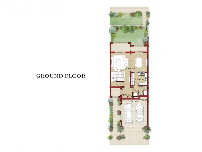 2 Bedroom Townhouse - Floor Plan