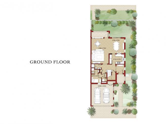 3 Bedroom Corner Townhouse with Maid's Room - Floor Plan