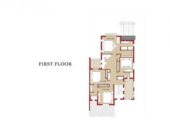 4 Bedroom Semi-detached Villa with Maid's Room - Floor Plan